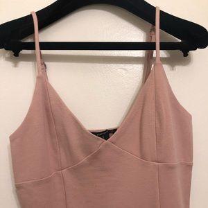 Pink cami knee-length dress